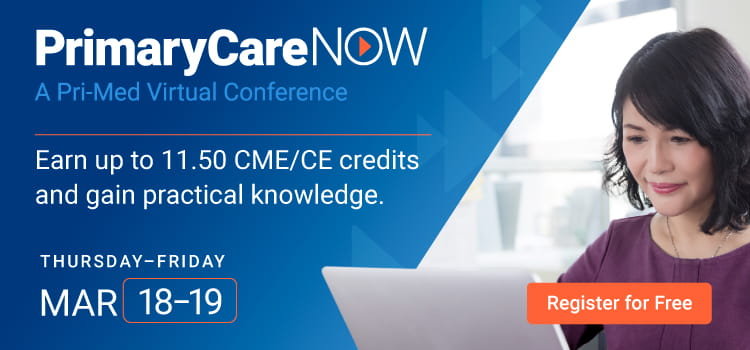 PrimaryCareNOW | Virtual CME Conference | Thursday–Friday, March 18–19