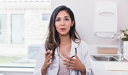 Female physician getting ready to explain something
