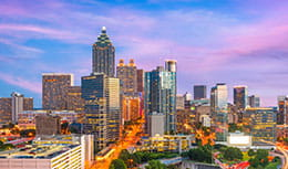 Skyline of Atlanta, GA, home of Pri-Med Atlanta