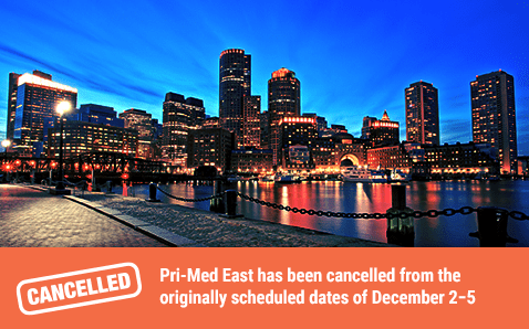 Pri-Med East has been cancelled from the originally scheduled dates of December 2−5