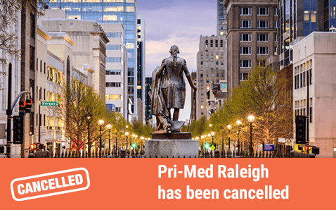 Pri-Med Raleigh has been cancelled.