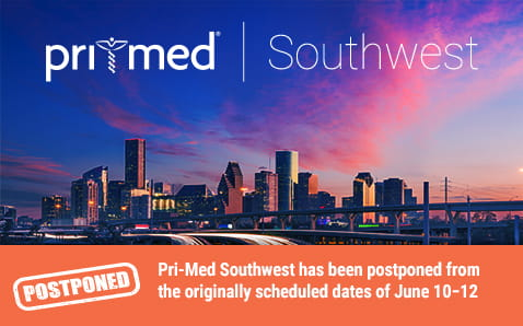 Pri-Med Southwest has been postponed from the originally scheduled dates of June 10−12
